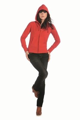 Sweatshirt B&C Hooded woman Full zip