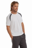 Hanes Men's Crew Neck T-shirt Contrast sports