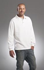 L&S Sweatshirt Polo Open Hem